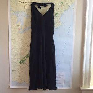 Ann Taylor silk faux wrap dress